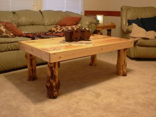 Log coffee table sale 1